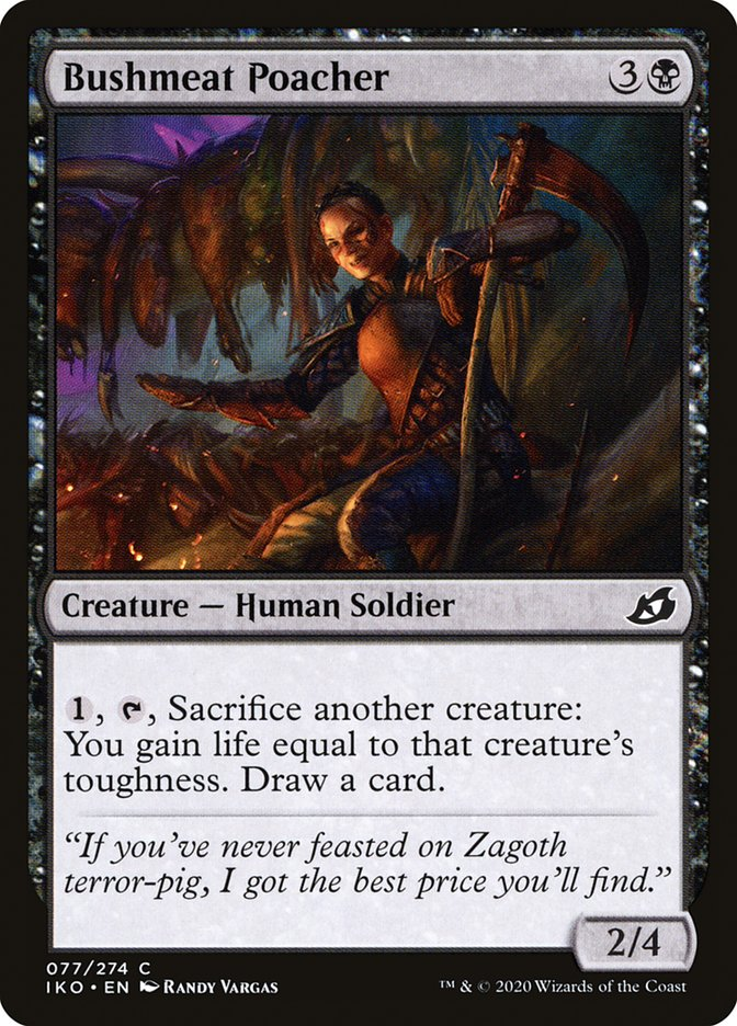 Carta Caçadora de Carne Selvagem/Bushmeat Poacher de Magic the Gathering