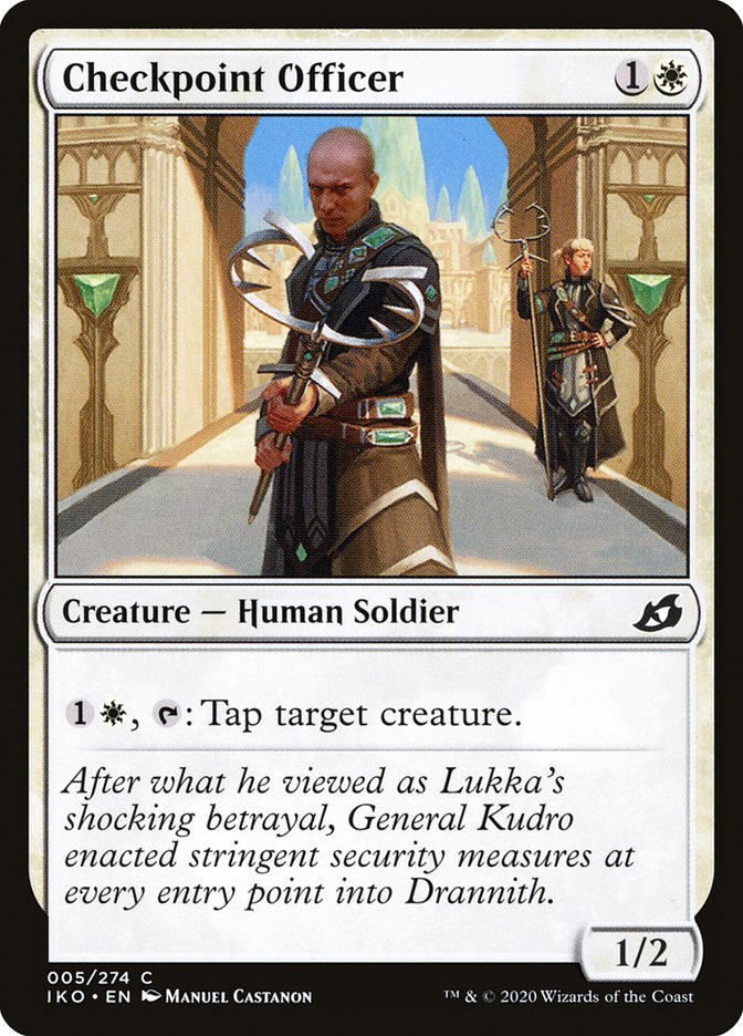 Carta Oficial do Posto de Controle/Checkpoint Officer de Magic the Gathering