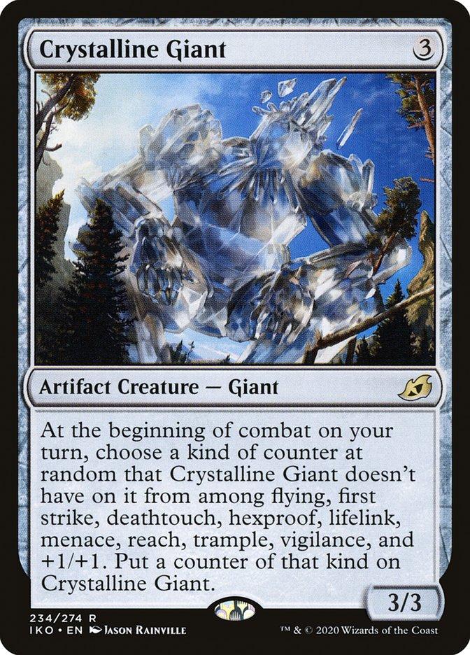 Carta Gigante Cristalino/Crystalline Giant de Magic the Gathering