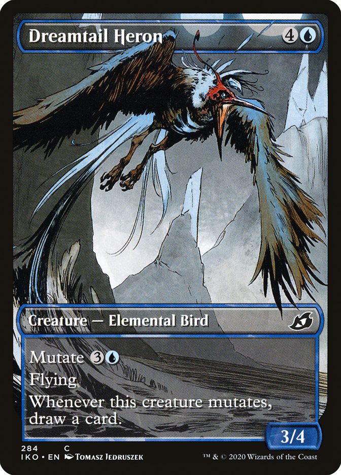 Carta Garça-de-cauda-onírica/Dreamtail Heron de Magic the Gathering