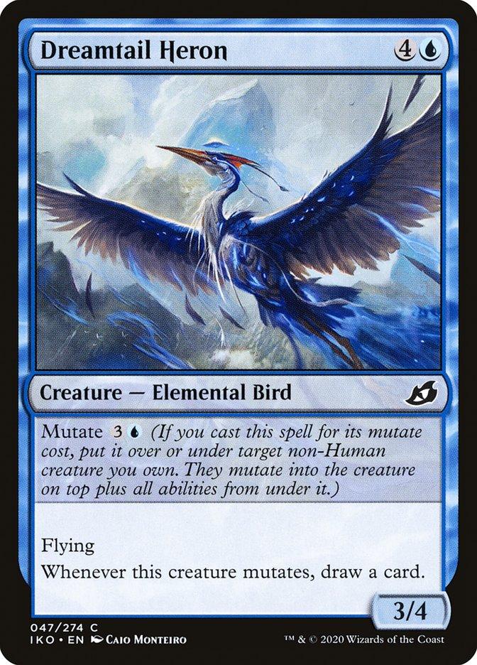 Carta Garça-de-cauda-onírica/Dreamtail Heron de Magic the Gathering
