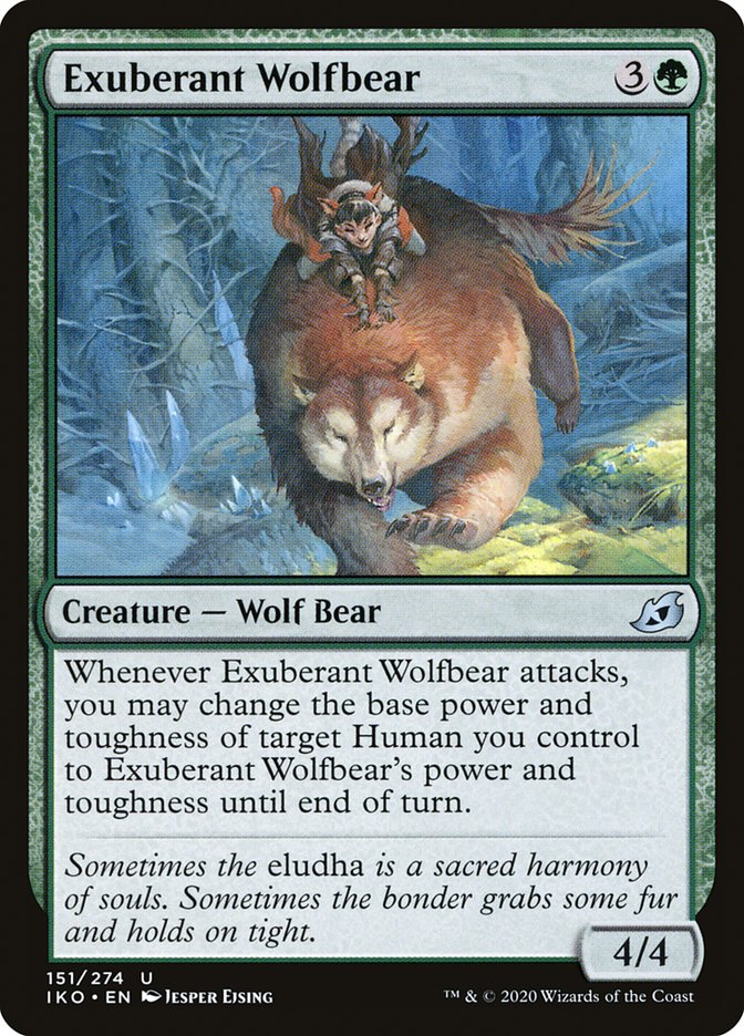 Carta Loburso Exuberante/Exuberant Wolfbear de Magic the Gathering