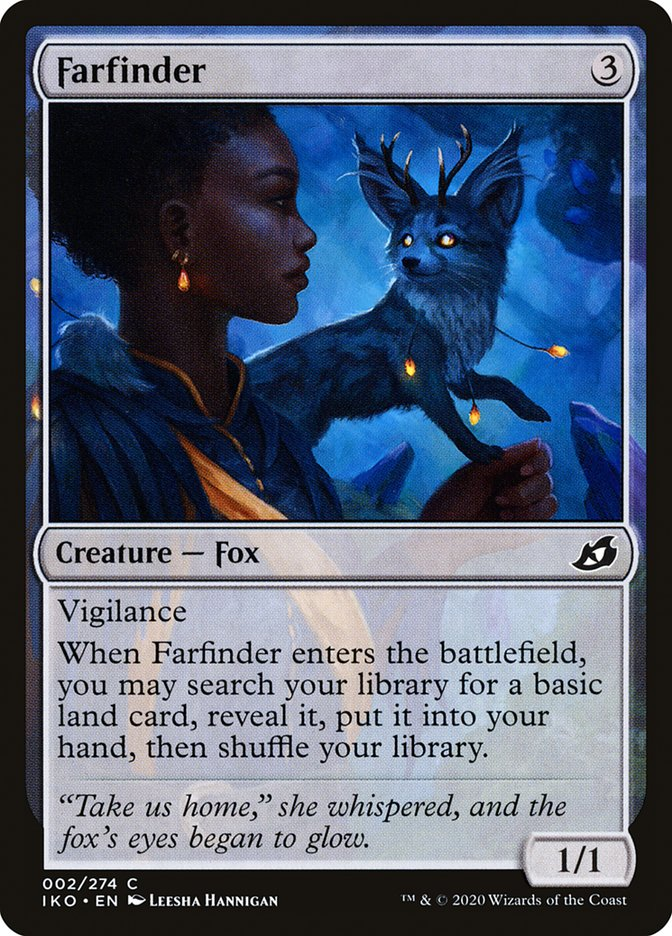 Carta Encontra-terras/Farfinder de Magic the Gathering
