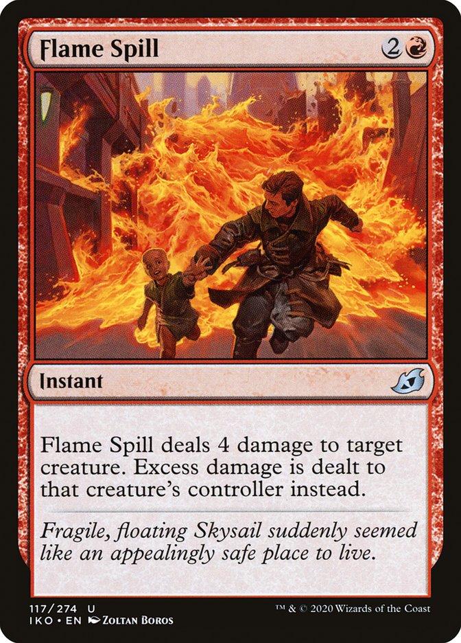 Carta Vazamento de Chamas/Flame Spill de Magic the Gathering