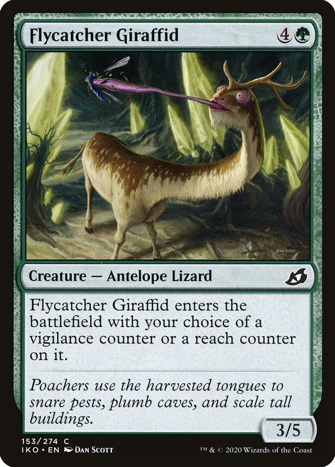 Carta Girafídeo Papa-moscas/Flycatcher Giraffid de Magic the Gathering
