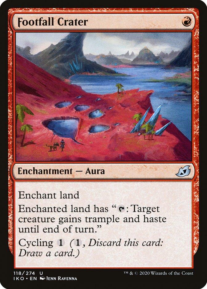 Carta Cratera da Pegada/Footfall Crater de Magic the Gathering