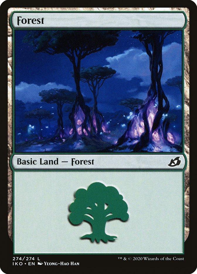 Carta Floresta/Forest de Magic the Gathering