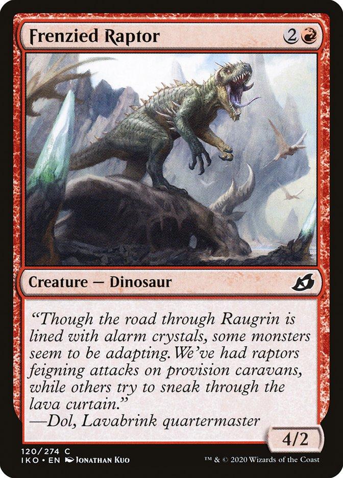 Carta Raptor Frenético/Frenzied Raptor de Magic the Gathering
