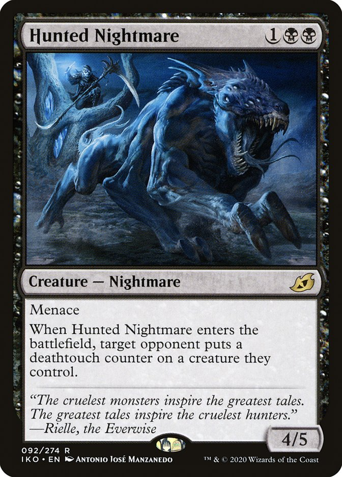 Carta Pesadelo Caçado/Hunted Nightmare de Magic the Gathering