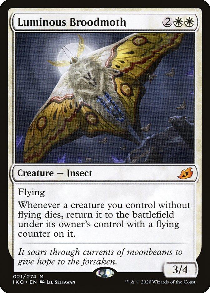 Carta Mariposa-parideira Luminosa/Luminous Broodmoth de Magic the Gathering