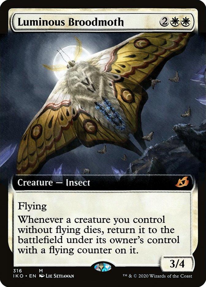 Carta Mariposa-parideira Luminosa/Luminous Broodmoth de Magic the Gathering
