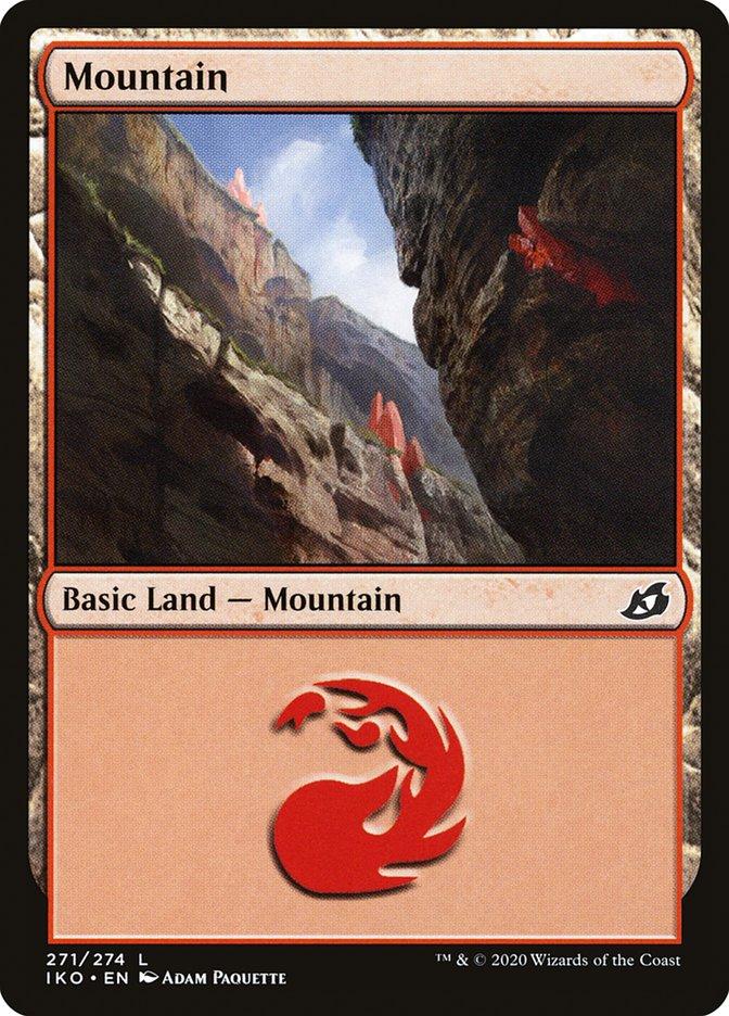 Carta Montanha/Mountain de Magic the Gathering
