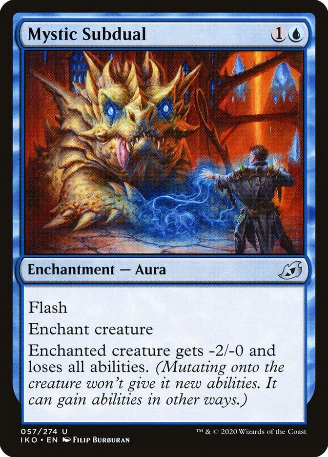Carta Submissão Mística/Mystic Subdual de Magic the Gathering