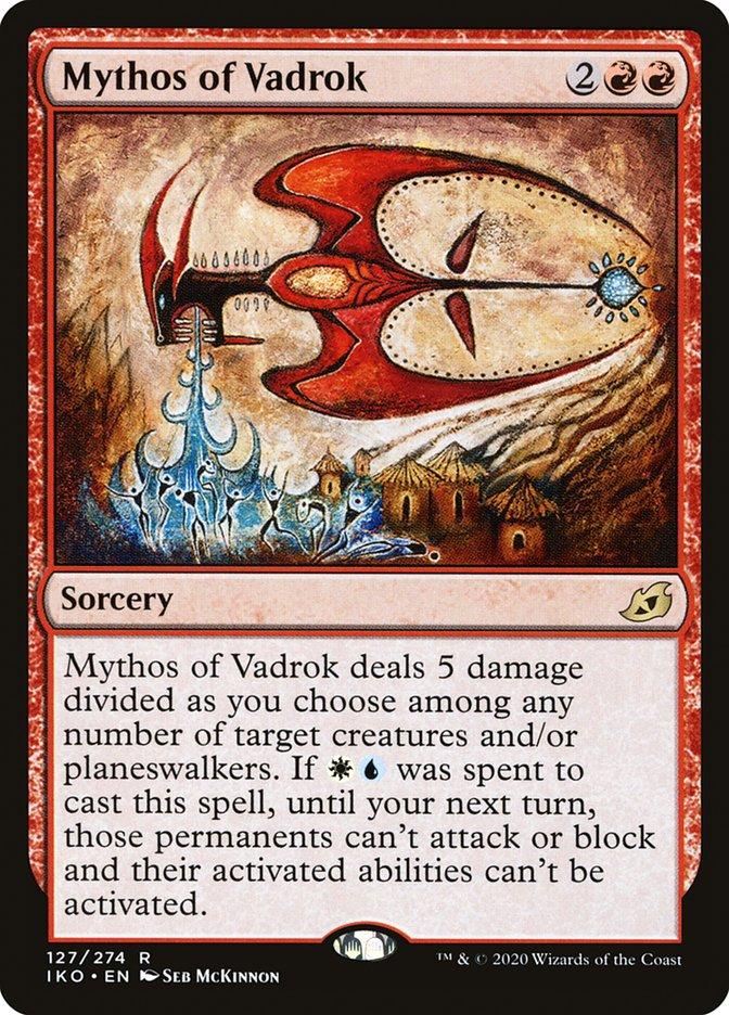 Carta Mito de Vadrok/Mythos of Vadrok de Magic the Gathering