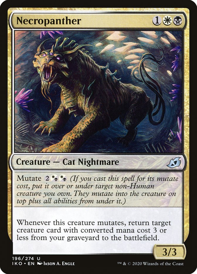 Carta Necropantera/Necropanther de Magic the Gathering