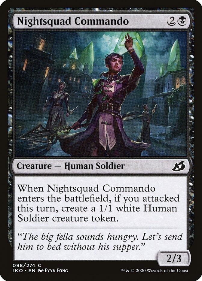 Carta Comando do Esquadrão Noturno/Nightsquad Commando de Magic the Gathering