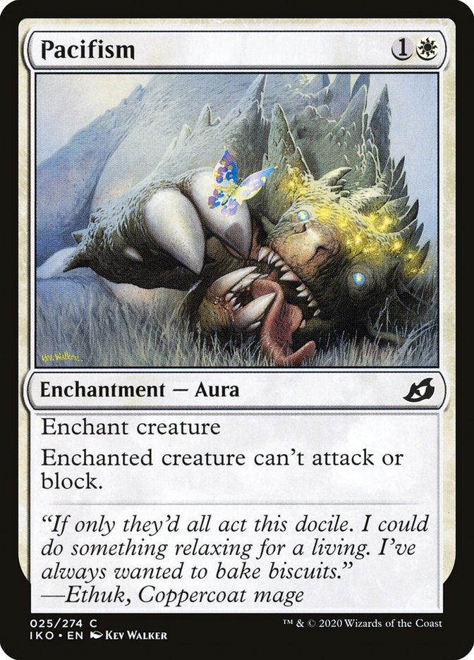 Carta Pacifismo/Pacifism de Magic the Gathering