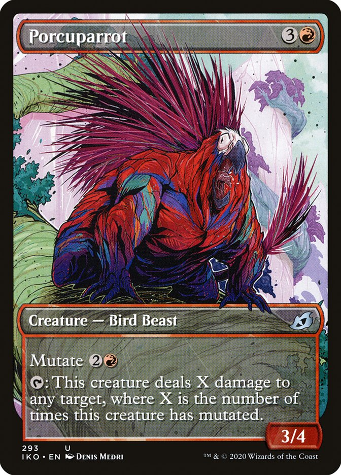 Carta Papagaio-espinho/Porcuparrot de Magic the Gathering