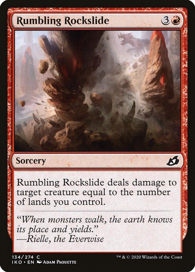 Carta Deslizamento Ribombante/Rumbling Rockslide de Magic the Gathering