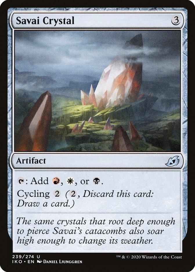 Carta Cristal de Savai/Savai Crystal de Magic the Gathering
