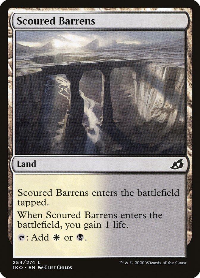 Carta Desertos Calcinados/Scoured Barrens de Magic the Gathering