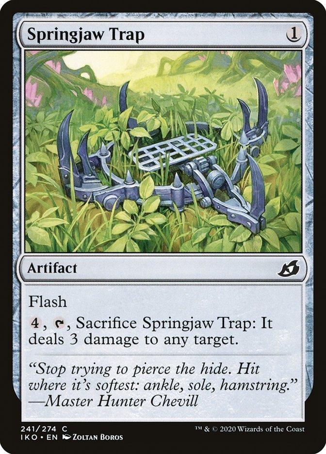 Carta Armadilha Molandíbula/Springjaw Trap de Magic the Gathering