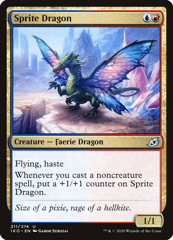 Carta Dragão Sílfide/Sprite Dragon de Magic the Gathering