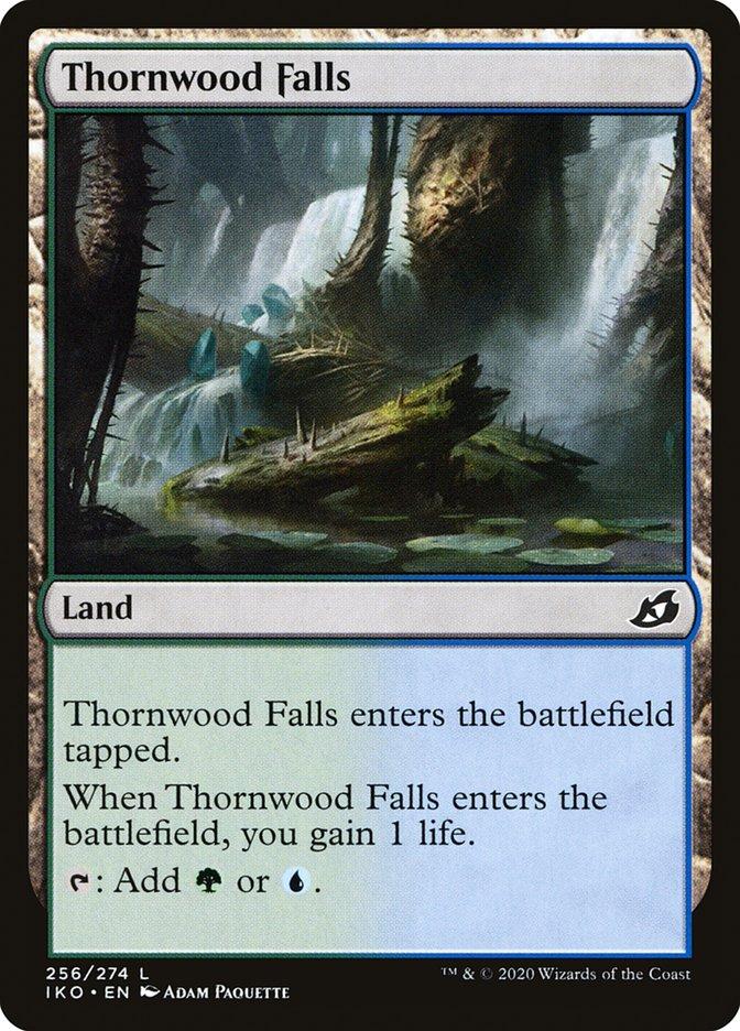Carta Cachoeira dos Espinhos/Thornwood Falls de Magic the Gathering