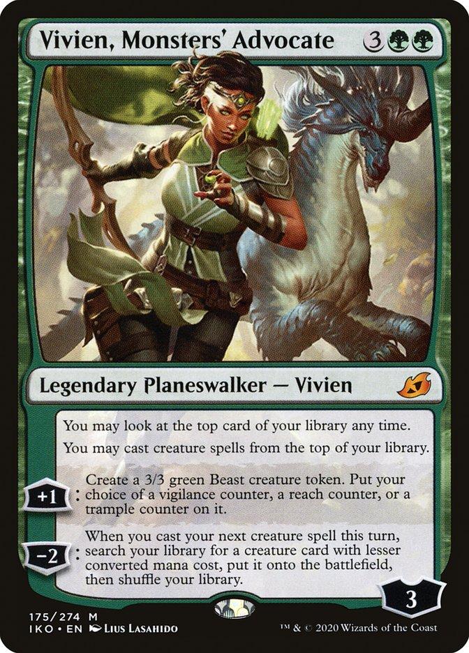 Carta Vivien, Protetora dos Monstros/Vivien, Monsters' Advocate de Magic the Gathering