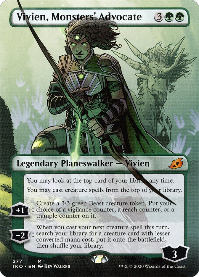 Carta Vivien, Protetora dos Monstros/Vivien, Monsters' Advocate de Magic the Gathering