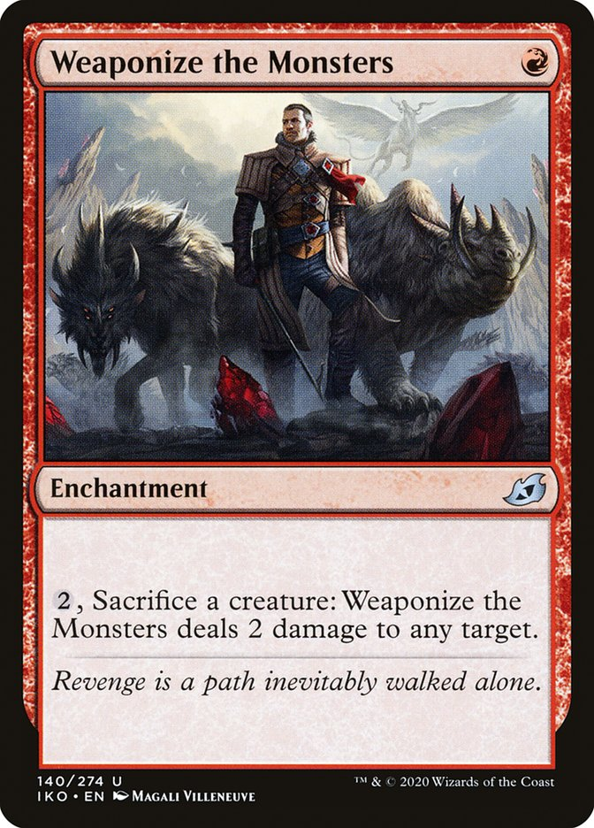 Carta Militarizar os Monstros/Weaponize the Monsters de Magic the Gathering