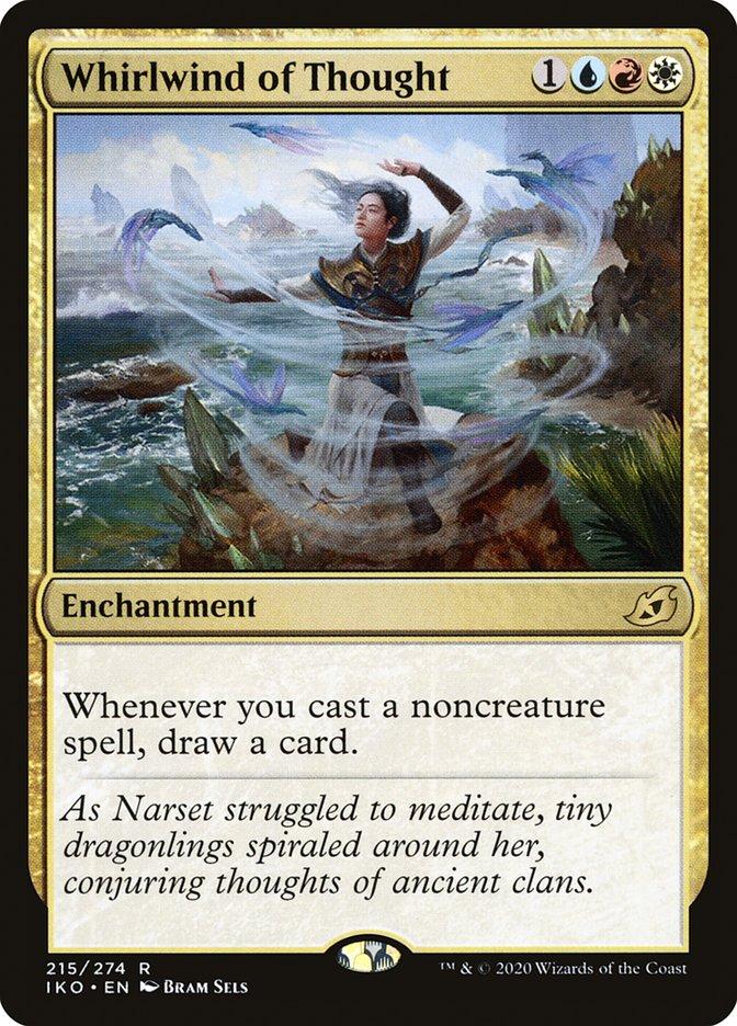 Carta Redemoinho de Pensamentos/Whirlwind of Thought de Magic the Gathering