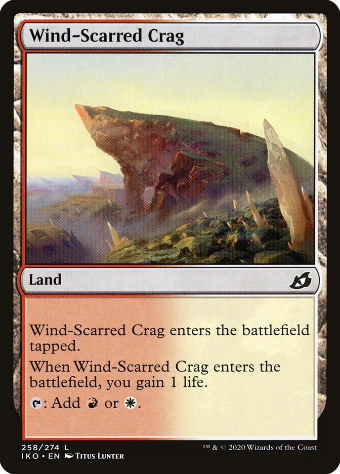 Carta Penhasco Marcado pelo Vento/Wind-Scarred Crag de Magic the Gathering