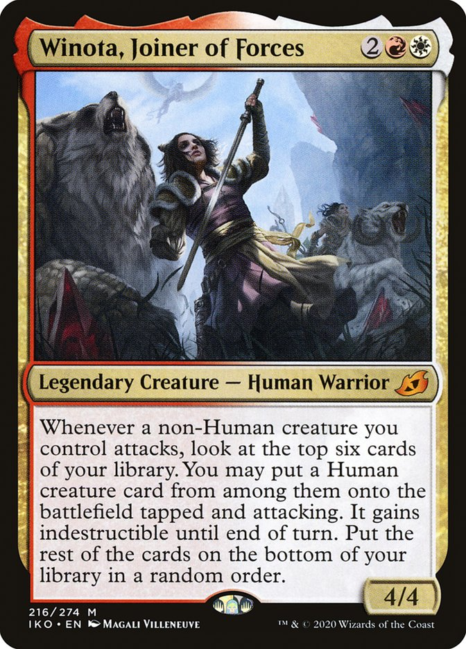 Carta Winota, Agregadora de Forças/Winota, Joiner of Forces de Magic the Gathering
