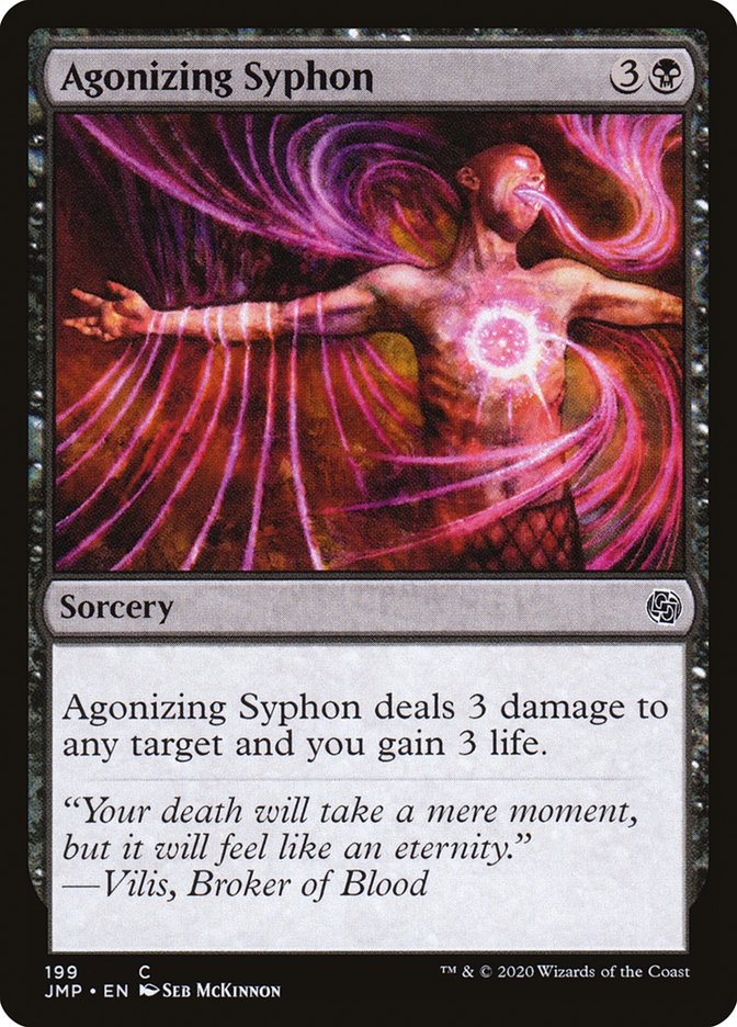 Carta Sifão Agonizante/Agonizing Syphon de Magic the Gathering