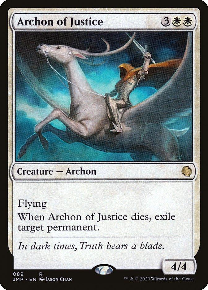 Carta Arconte da Justiça/Archon of Justice de Magic the Gathering