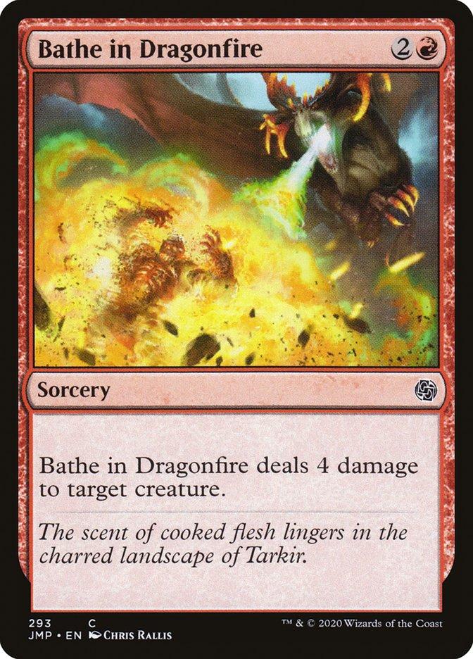 Carta Imergir em Fogo Dragônico/Bathe in Dragonfire de Magic the Gathering