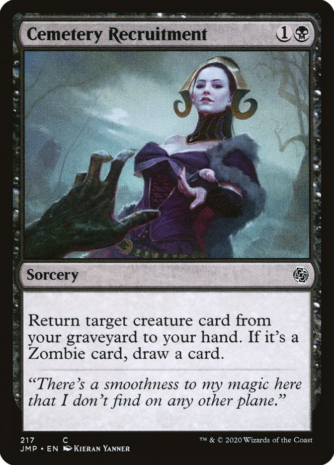 Carta Recrutamento no Cemitério/Cemetery Recruitment de Magic the Gathering