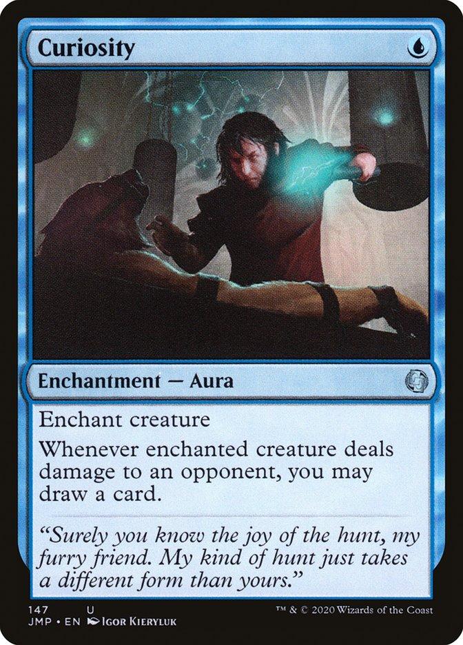 Carta Curiosidade/Curiosity de Magic the Gathering