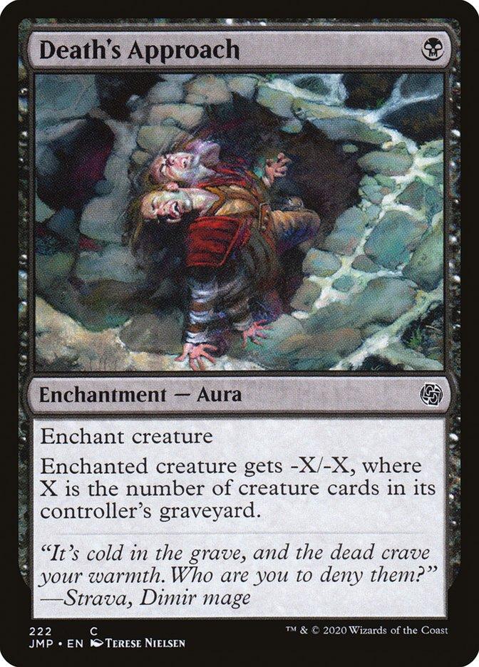 Carta Aproximação da Morte/Death's Approach de Magic the Gathering