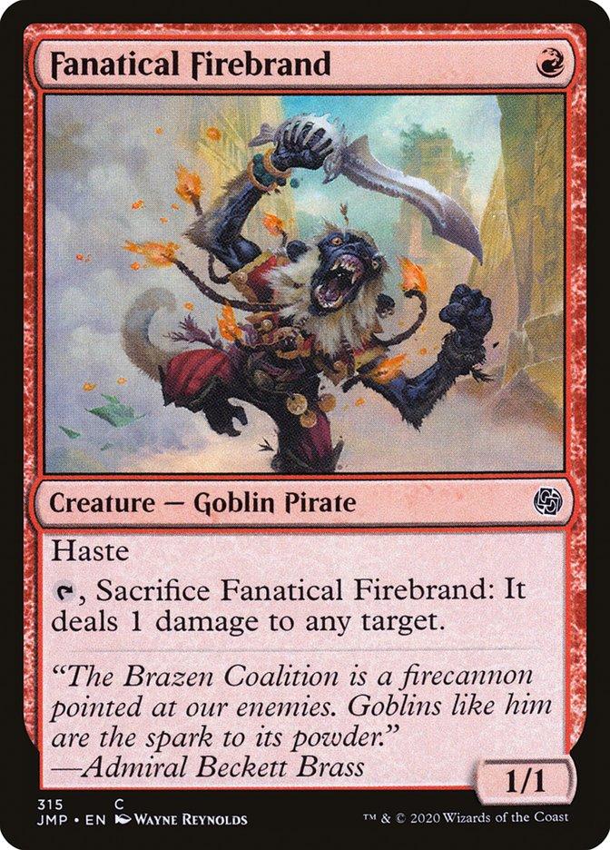 Carta Instigador Fanático/Fanatical Firebrand de Magic the Gathering