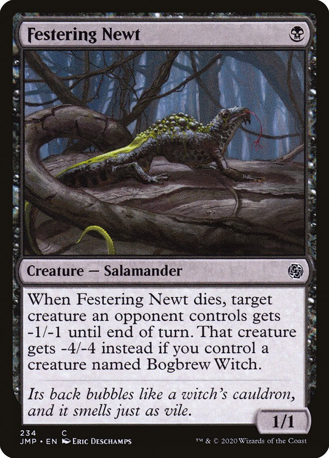 Carta Salamandra Purulenta/Festering Newt de Magic the Gathering