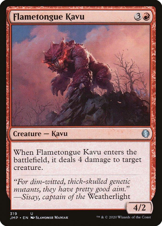 Carta Kavu de Língua Flamejante/Flametongue Kavu de Magic the Gathering