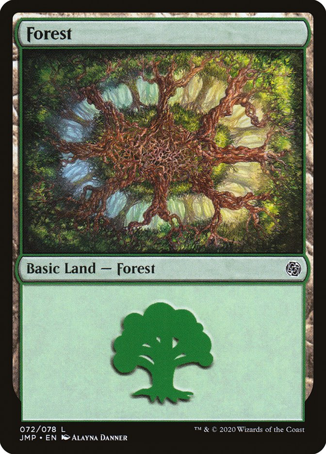 Carta Floresta/Forest de Magic the Gathering