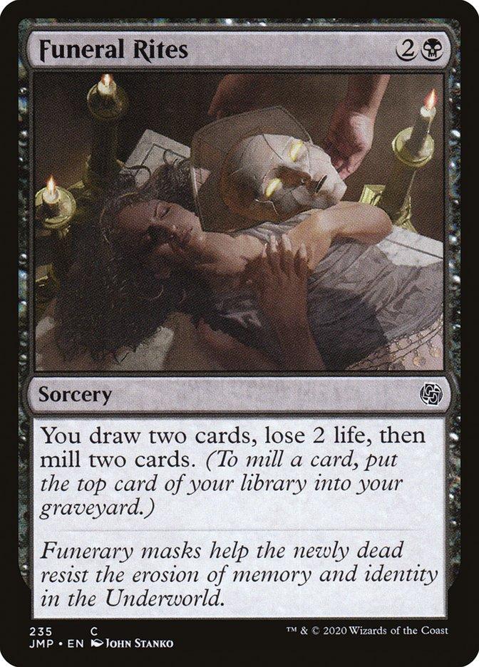 Carta Ritos Funerários/Funeral Rites de Magic the Gathering