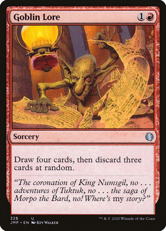Carta Sabedoria Goblin/Goblin Lore de Magic the Gathering