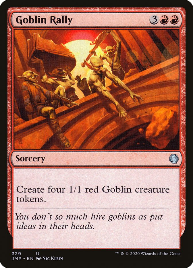 Carta Reunião de Goblins/Goblin Rally de Magic the Gathering