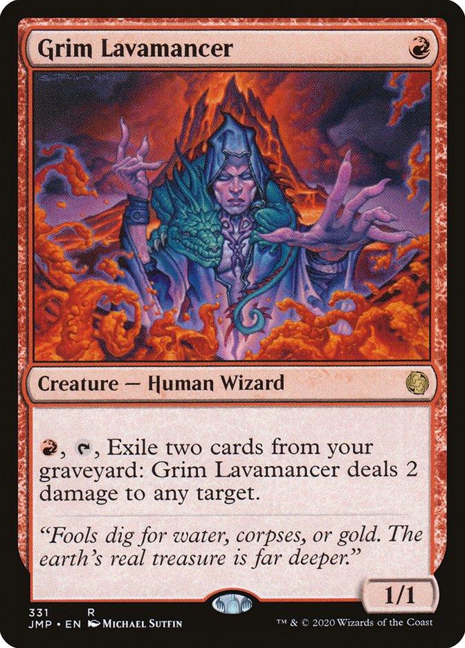 Carta Lavamante Implacável/Grim Lavamancer de Magic the Gathering