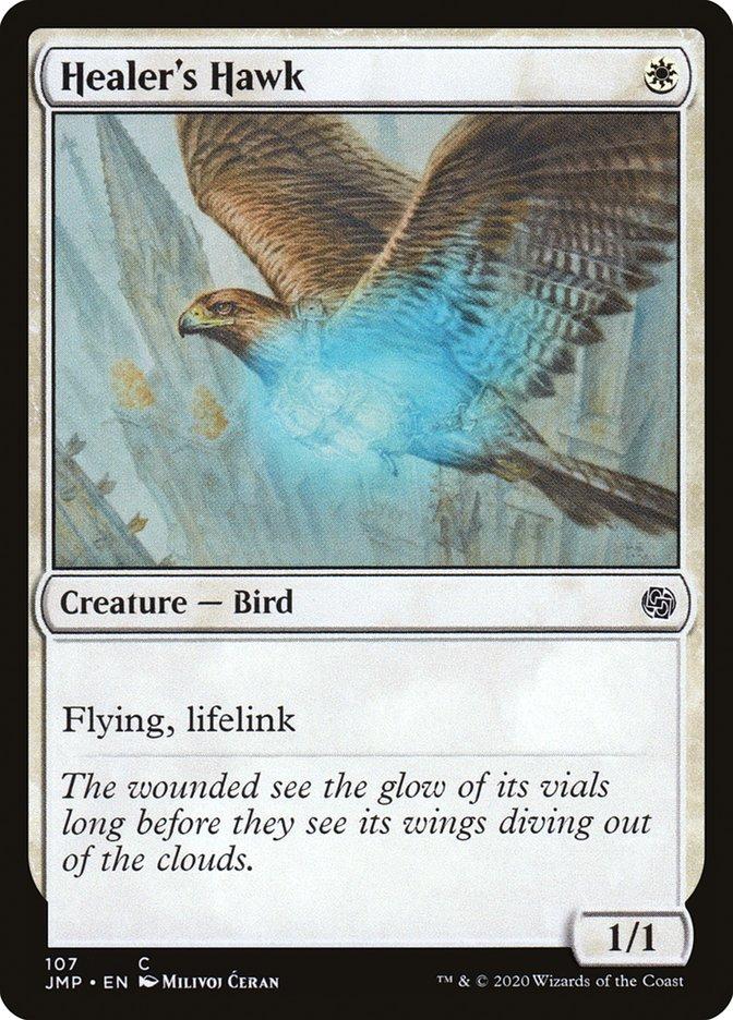 Carta Falcão do Curandeiro/Healer's Hawk de Magic the Gathering