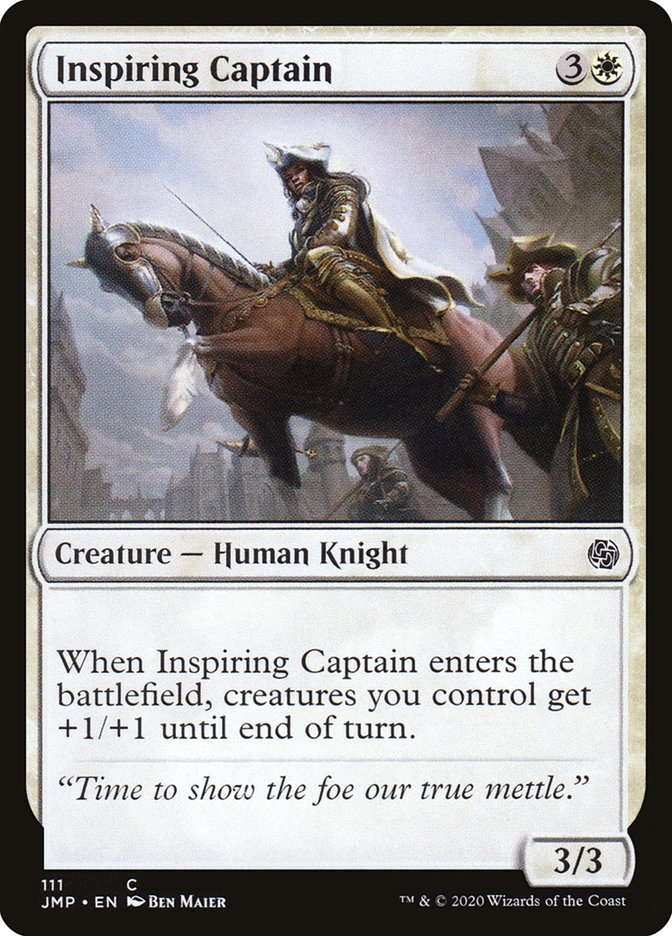 Carta Capitão Inspirador/Inspiring Captain de Magic the Gathering